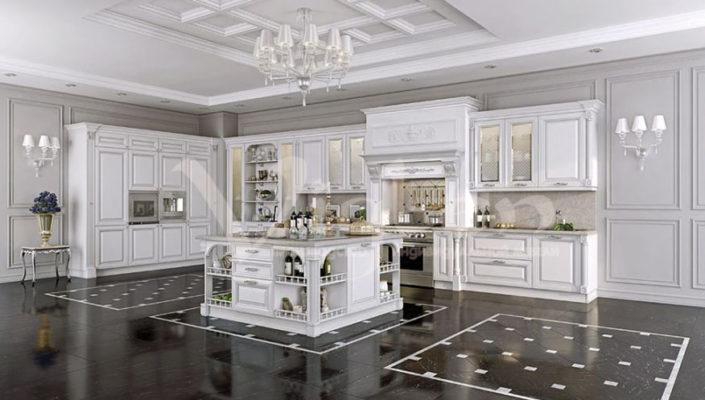 белая классическая кухня смотреть фото