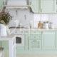 салатовая кухня фото прованс