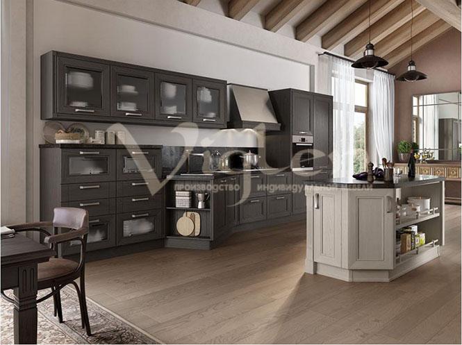черное дерево современная кухня модерн фото